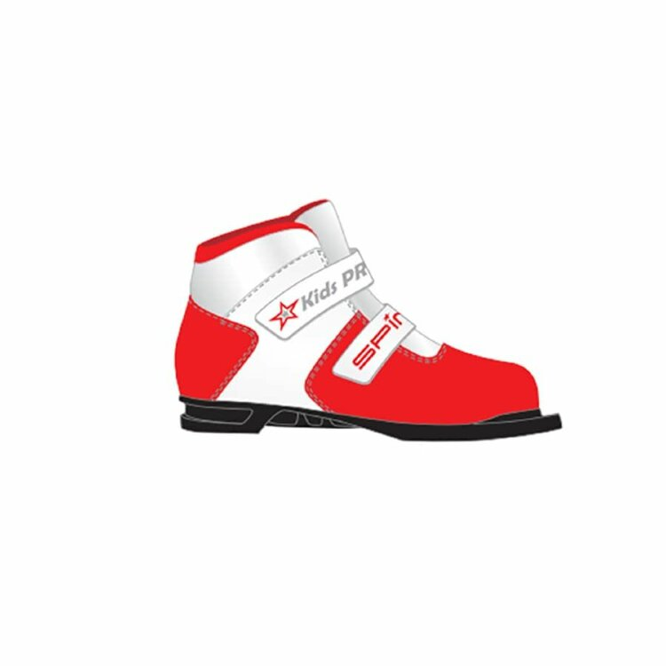Ботинки лыжные 75 мм SPINE Kids Pro 399/9 RED 35р.