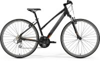 19 Merida Crossway 20-V Lady К:700C Р:S(43cm) MattBlack/Orange